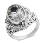 Bali Collection Brazilian Green Amethyst Sterling Silver Ring (Size 7.5) TGW 5.12 cts.