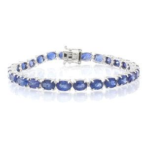One Day TLV Masoala Sapphire Sterling Silver Bracelet (7.50 In) TGW 27.04 cts.