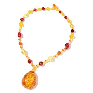 Amber Colors Chroma Beads Necklace (26 in)