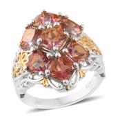 Mystic Twilight Topaz 14K YG and Platinum Over Sterling Silver Ring (Size 10.0) TGW 8.80 cts.
