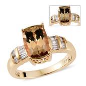 ILIANA 18K YG Turkizite, Diamond Ring (Size 7.0) TDiaWt 0.20 cts, TGW 3.45 cts.