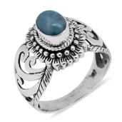Bali Legacy Collection Larimar Sterling Silver Ring (Size 7.0) TGW 1.95 cts.