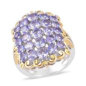 Tanzanite 14K YG and Platinum Over Sterling Silver Ring (Size 6.0) TGW 2.86 cts.