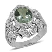 Bali Legacy Collection Green Amethyst Sterling Silver Ring (Size 9.0) TGW 3.89 cts.