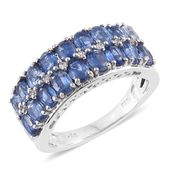 Himalayan Kyanite, Cambodian Zircon Platinum Over Sterling Silver Ring (Size 6.0) TGW 4.14 cts.