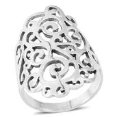 Sterling Silver Openwork Ring (Size 5.25)  (5.81 g)