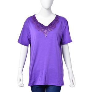 Purple 95% Polyester & 5% Spandex Jersey (41.5x26.7 in) (L)