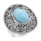 Artisan Crafted Sea Mist Larimar Sterling Silver Ring (Size 10.0) TGW 9.85 cts.