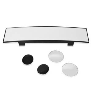 Car Rear View Mirror and 1 Pair of 360 Degree Rotating Blind Spot Mirrors