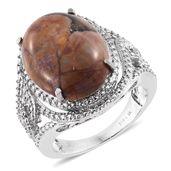 Venus Jasper Stainless Steel Ring (Size 7.0) TGW 15.50 cts.