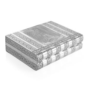 Oxidized Jewelery Box with Eifiel Tower Embossed on Top (Four Trays and One Bangle Roll Inside) (11x8.5x3 in)