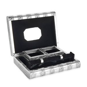 Oxidized Jewelery Box with US Capitol Embossed on Top (Four Trays and One Bangle Roll Inside) (11x8.5x3 in)