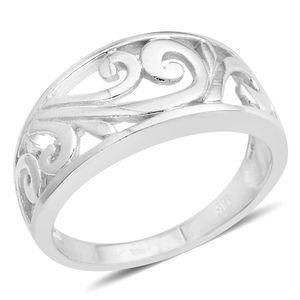Silvertone Ring (Size 9.0)