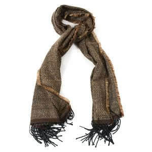 Brown 100% Acrylic Scarf with Fringe (72x28 in)