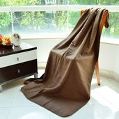 Brown 100% Polyester Throws (51.18x66.92 in)