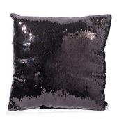 Home Textiles Silver and Black Square Sequn Pillow