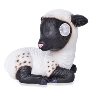 Black and White LED Solar Lamb (6.29x3.54x5.31 in)