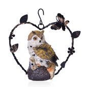 Chroma and Rustic Iron Hanging Owl Decor (Battery Not Included)