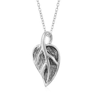 Sterling Silver Leaf Pendant With Chain (18 in)