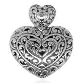 Bali Legacy Collection Sterling Silver Heart Pendant without Chain