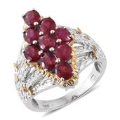 Niassa Ruby 14K YG and Platinum Over Sterling Silver Ring (Size 8.0) TGW 5.20 cts.