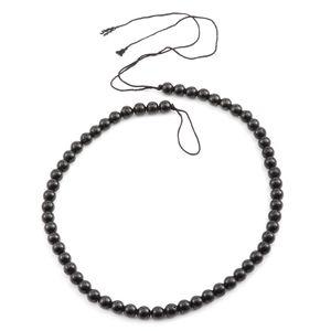 Gem Workshop Australian Black Tourmaline Bead Strand 78.00 CT TW 16-inch