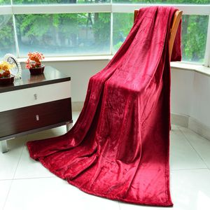 Red Microfiber Flannel Blanket (59.05x78.74 in)