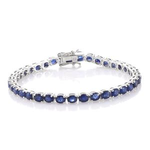 Masoala Sapphire Platinum Over Sterling Silver Bracelet (7.50 In) TGW 18.80 cts.