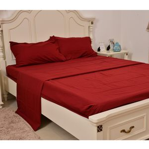 Dark Red Ultra Soft Innovative Sheet Set (King)