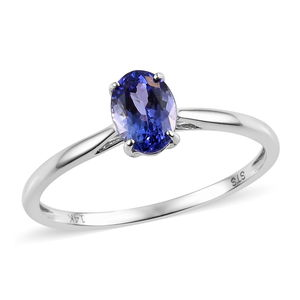 Dan's Collector 25th Anniversary Collection 14K WG Premium AAA Tanzanite Solitaire Ring (Size 10.0) TGW 1.10 cts.