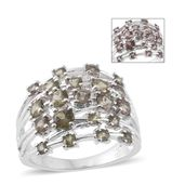 Bekily Color Change Garnet Platinum Over Sterling Silver Ring (Size 6.0) TGW 2.88 cts.