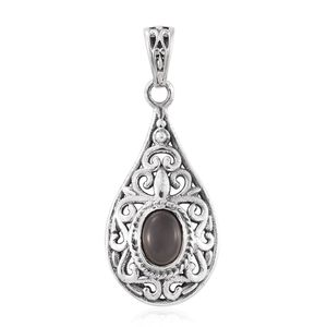 Sri Lankan Titanium Moonstone Sterling Silver Pendant without Chain TGW 1.19 cts.