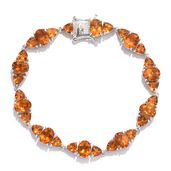Tony's Collector Show Santa Ana Madeira Citrine Platinum Over Sterling Silver Bracelet (7.50 In) TGW 19.60 cts.