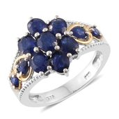 Masoala Sapphire 14K YG and Platinum Over Sterling Silver Ring (Size 5.0) TGW 4.38 cts.