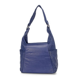 Blue Genuine Leather RFID Hobo Bag (10X5X16.5 in)