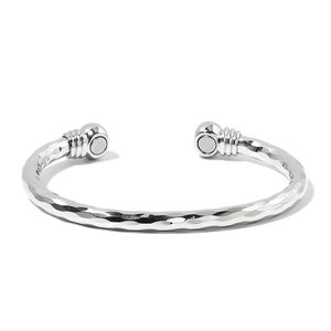 Magnetic Jewelry Silvertone Cuff (7 in)