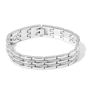 Magnetic Jewelry Silvertone Multi Link Bracelet Bracelet (8.00 In)
