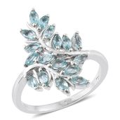 Madagascar Paraiba Apatite Platinum Over Sterling Silver Ring (Size 6.0) TGW 1.50 cts.