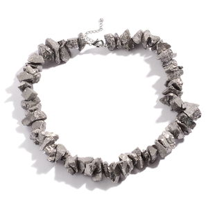 Silver Crystal Quartz Stainless Steel Necklace (18 in) TGW 650.50 cts.