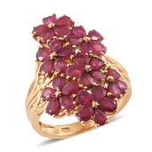 Nitin's Knockdown Deals Niassa Ruby 14K YG Over Sterling Silver Ring (Size 5.0) TGW 7.90 cts.