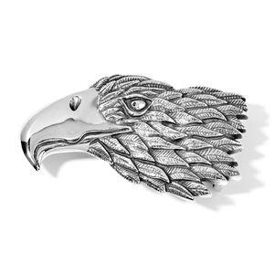 Black Oxidized Stainless Steel Eagle Head Belt Buckle