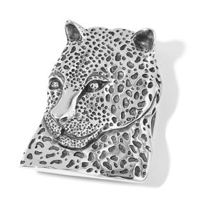 Black Oxidized Stainless Steel Leopard Head Buckle