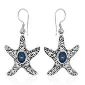 Bali Legacy Collection Australian Boulder Opal Sterling Silver Star Fish Earrings TGW 1.80 cts.