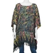 Multi Color 100% Rayon Poncho
