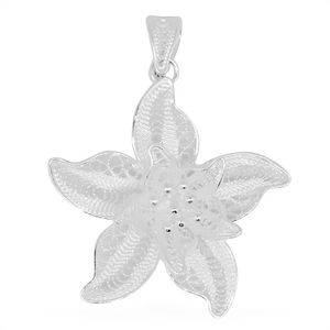 Bali Legacy Collection Sterling Silver Star Flower Pendant without Chain (3.2 g)
