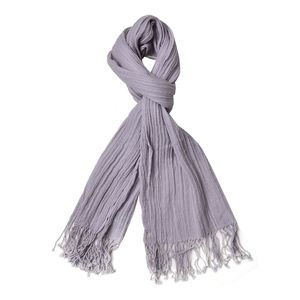 Gray 100% Wool Scarf with Tassles (17.72x71.81 in)