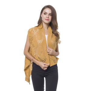 Ginger 100% Acrylic Knitted Argyle Pattern Kimono (One Size)