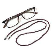 Mozambique Garnet Beads Eyewear Holder TGW 110.00 cts.