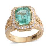 ILIANA 18K YG Boyaca Colombian Emerald, Diamond Ring (Size 7.0) TDiaWt 0.68 cts, TGW 3.81 cts.