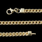14K YG Over Sterling Silver Franco Chain (28 in, 26.7 g)